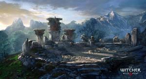 The Witcher 3 Wild Hunt-Berserker shrine by Scratcherpen
