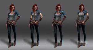 Witcher 3 Triss early concepts by Scratcherpen