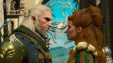 BaW Geralt and Anna by Scratcherpen