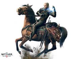 The Witcher 3 Wild Hunt-Geralt Horse by Scratcherpen