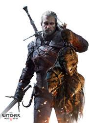 The Witcher 3 Wild Hunt-Geralt with harpies by Scratcherpen