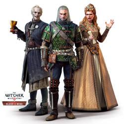Blood and Wine Regis,Geralt and Anna Henrietta by Scratcherpen