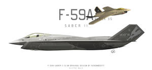 F-59A Saber II Block 35 by fighterman35
