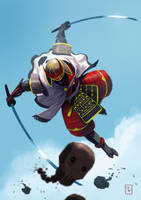Myamoto Samurai Cyborg by PointLineArea