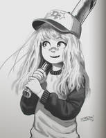 Baseball girl sketch 2 by DFer32