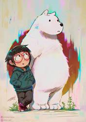 Chloe and Ice Bear by DFer32