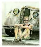 Portrait with a car by Jowo