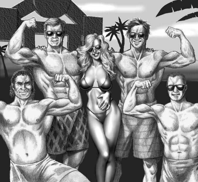 Posing At Muscle Beach-WIP by mjarrett1000