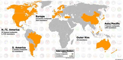 Rebel Legion World Map, 2011 by Daritha