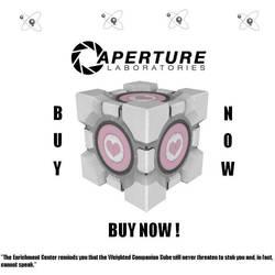 Portal: Aperture Science's Companion Cube by Daritha