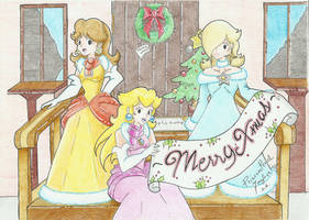 .:Princesses Christmas:. by PrincessPeachFanLove