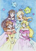 .:Space Princesses:. by PrincessPeachFanLove