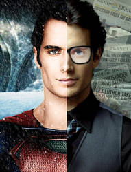 Fan-Made: Superman/Clark Kent promo image by zviray