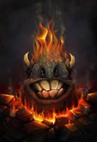 Fire Rock Monster by charfade
