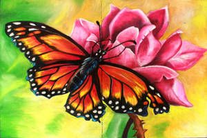 Monarch on Dusty Rose Chalk Final by charfade
