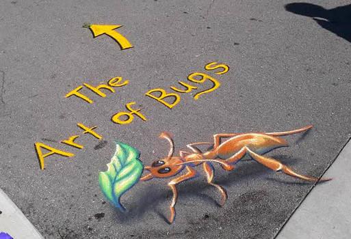 Ant leaf Chalk Art by charfade