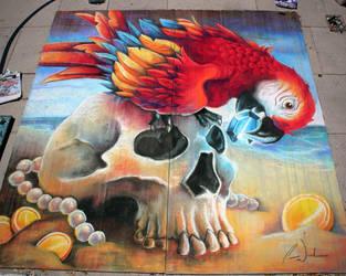The Eye of a Pirate Chalk Art by charfade