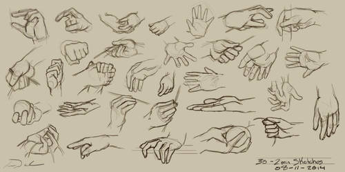 30 - 2min Hand Studies by charfade