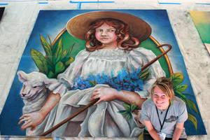 Little Bo Peep Chalk Art by charfade