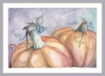 Pumpkins - watercolor by charfade