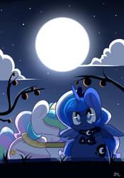 princess celestia and luna by MACKINN7