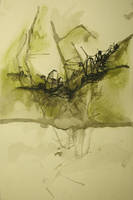 ink splatter landscape by lovetoast