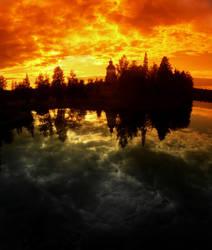 Between heaven and hell by KariLiimatainen