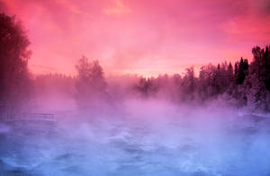 pier in the fog by KariLiimatainen
