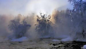 Misty rapids by KariLiimatainen