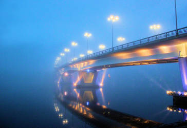 bridge in the mist by KariLiimatainen