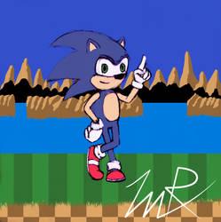 Classic Sonic by KenjiMinamoto