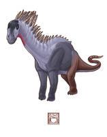 Amargasaurus cazaui by 0CoffeeBlack0
