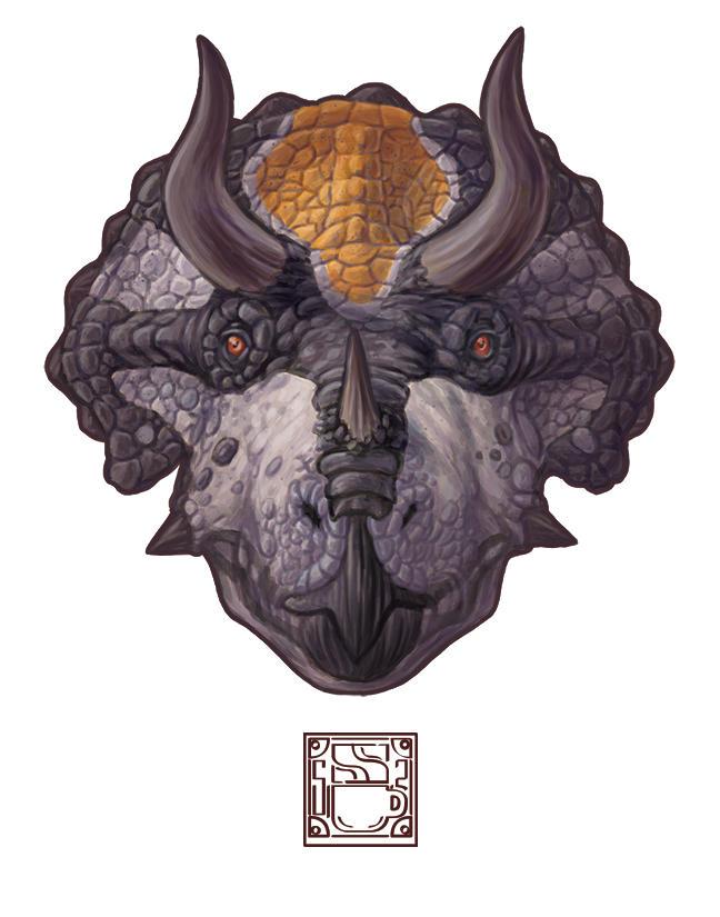 Triceratops horridus by 0CoffeeBlack0