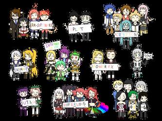 ALL the Vocaloids by KingisNitro