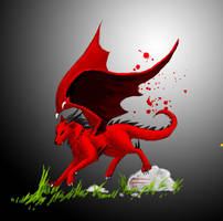 Dragonicwolf running by dragonicwolf