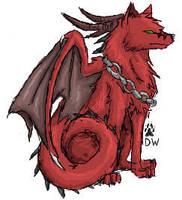 DragonicWolf scribble by dragonicwolf