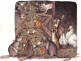 A Barnyard Christmas by Camelid