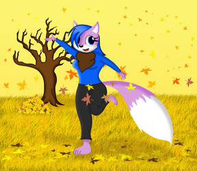 Purple the Fox's Autumn Dance (Entry) by dwaters220