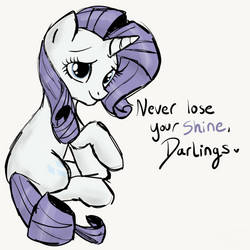 Never Lose Your Shine - Rarity by SJArt117