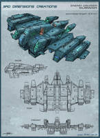 SUBWAR - Enemy Cruiser by Hideyoshi