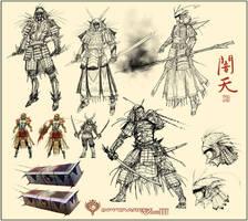 DW III - Yamiten - Roughs by Hideyoshi