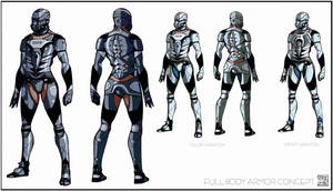 Light armor suit concept by Hideyoshi
