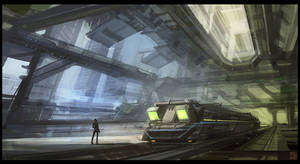 Futuristic Subway by Hideyoshi