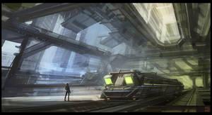 Futuristic Subway by Hideyoshi
