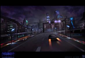 Azureus Rising - Night Scape 2 by Hideyoshi