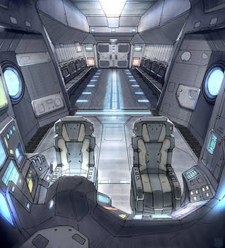 Star Fall Drop Ship Interior by Hideyoshi