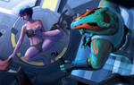 Transhuman Duo - Eclipse Phase by Hideyoshi