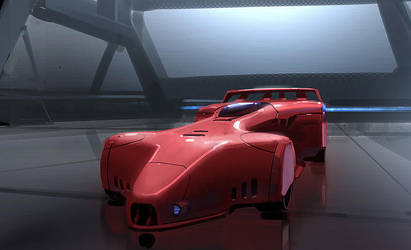 Red Thunder - Speedpaint Video by Hideyoshi