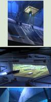 Space Docking Bay by Hideyoshi