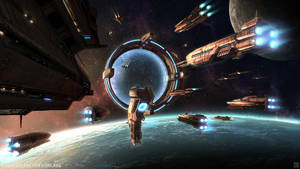 Galaxy on Fire: Alliances - Terran Jumpgate by Hideyoshi